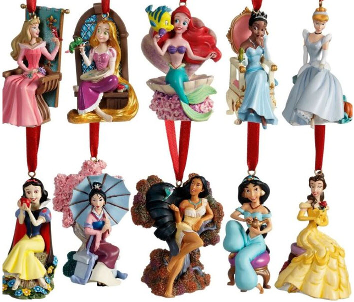 Limited Edition 2011 Disney Princess Christmas Ornament Set