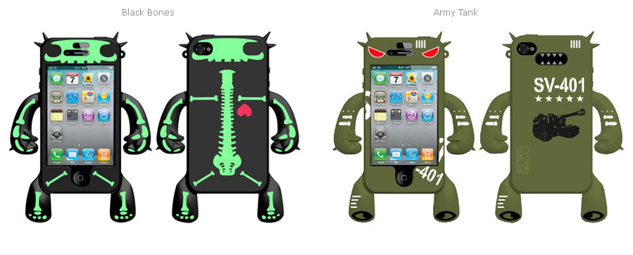 Robotector Character Silicon Skin for iPhone 4