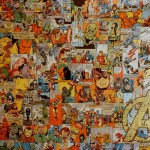 Comic Collage Art Gallery Wrap Canvas