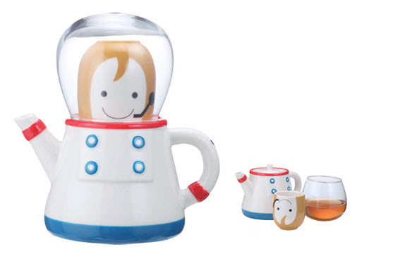 Cute Astronaut Tea Pot Set