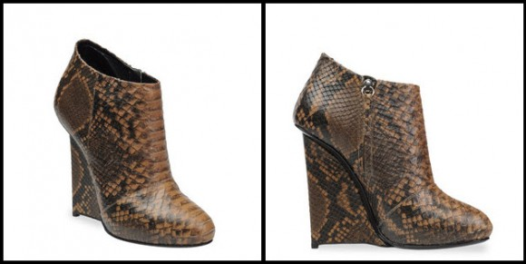 Beige Python print Ankle Boots