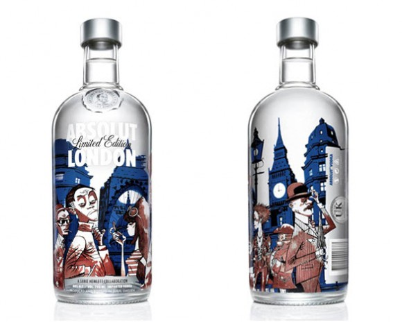 Jamie Hewlett Absolut London Edition Art Bottle