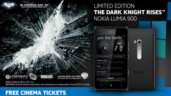 Dark Knight Rises Nokia Lumia 900