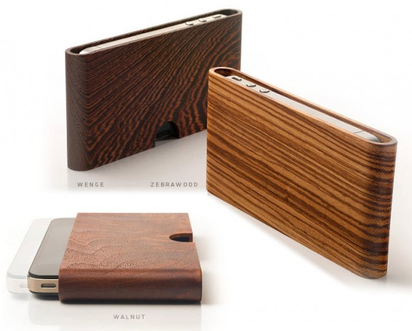 Miniot Wood Pouch for iPhone 4/4s