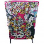 Tokidoki Limited Edition 'Singapore' Wing Chair