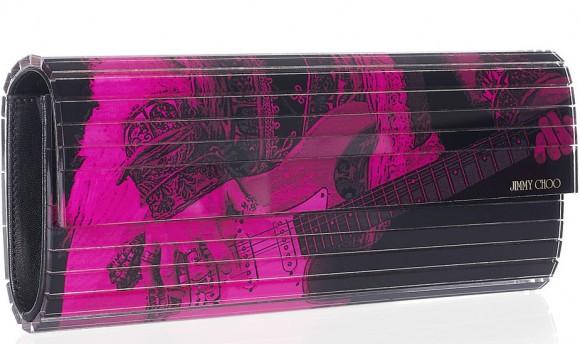 Jimmy Choo Sweetie Printed Acrylic Clutch