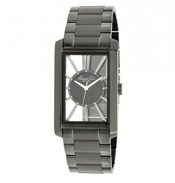 Kenneth Cole Rectangular Transparent Watch